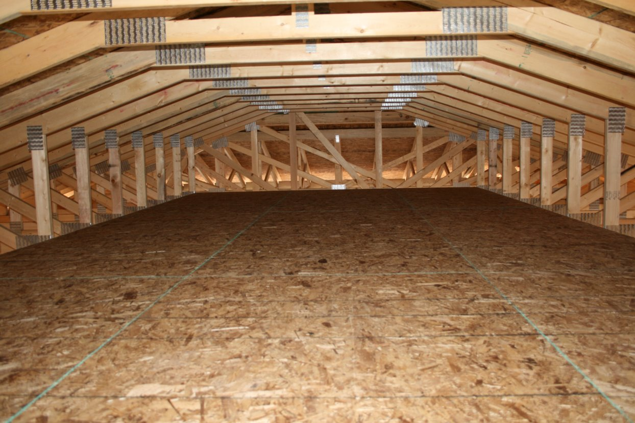We Had The Trusses Designed So That We Have An Attic